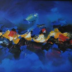 Blue Abstract size - 21.5x21.5In - 21.5x21.5