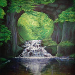 Cave Waterfalls size - 18x24In - 18x24