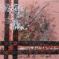 """Abstract 102 """"think of me"""" size - 12x12In - 12x12"""