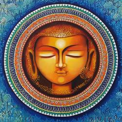 Buddha - Rise of soul consciousness size - 30x30In - 30x30