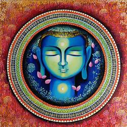 Buddha - Rise of soul consciousness 3 size - 36x36In - 36x36