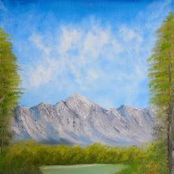 Oil Painting Scenery   size - 20x16In - 20x16