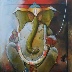 ganpati bappa size - 36x42In - 36x42
