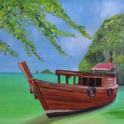 Welcome to Thailand  Oil painting size - 20x16In - 20x16
