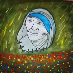 Mother Theresa Modern Art size - 10.8x13.6In - 10.8x13.6