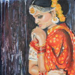 Beautiful Indian Woman 'Chabeeli' size - 11x16In - 11x16
