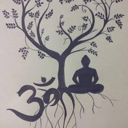 Budha size - 8.6x12.2In - 8.6x12.2
