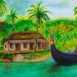 Kerala Fishermans  size - 16.5x11.5In - 16.5x11.5
