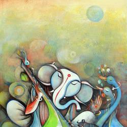 Shree Ganesha size - 20x24In - 20x24
