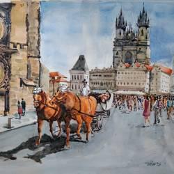 Prague City center  size - 20x13In - 20x13