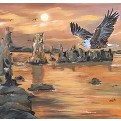 Eagle size - 24x18In - 24x18