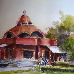 Kalibari in Delhi  size - 18x12In - 18x12