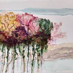 Bouquet of Trees-2 size - 8.3x5.8In - 8.3x5.8