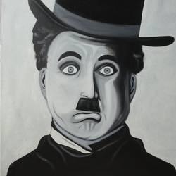 Charlie Chaplin size - 24x24In - 24x24