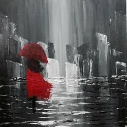 Rhythm of the falling rain size - 18x14In - 18x14