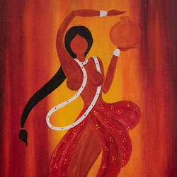 Indian Women size - 20x30In - 20x30