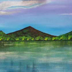 Serene Landscape size - 18x36In - 18x36