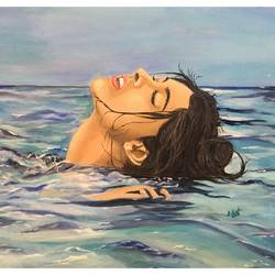 Floating Girl size - 20x16In - 20x16