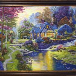 Nature ceramic oil painting size - 38x32In - 38x32
