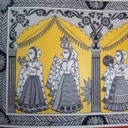 Swagat_rajasthani culture size - 11.5x16.5In - 11.5x16.5