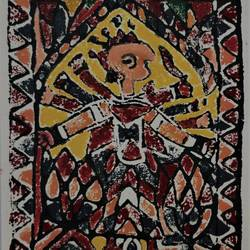 Madhubani Painting 7  size - 10.5x14.5In - 10.5x14.5