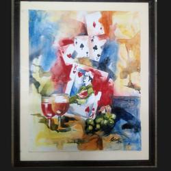 Madhubani Painting Power & Status size - 22x28In - 22x28