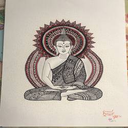 Aura of Buddh  size - 12x15In - 12x15