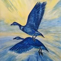 Birds in flight size - 11x15In - 11x15