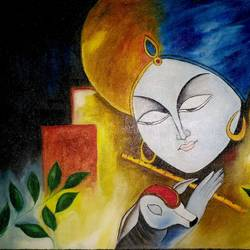 KRISHNA PAINTINGS size - 26x18In - 26x18
