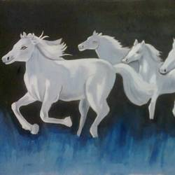 RUNNING HORSE size - 17x10In - 17x10
