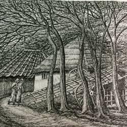 Fine Arts - Santiniketan IV size - 17x10In - 17x10