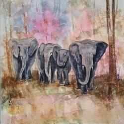 Elephant size - 9x11In - 9x11