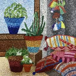 A sweet home  size - 32x40In - 32x40