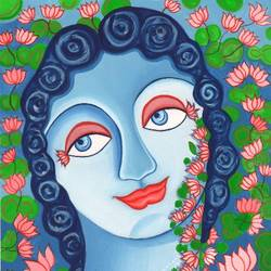 LOVE LORD RADHA KRISHNA size - 9x7In - 9x7