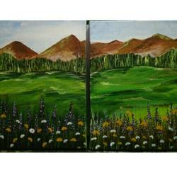 In the lap of nature size - 26x13In - 26x13