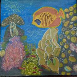 Fish in Coral Reef size - 12x12In - 12x12