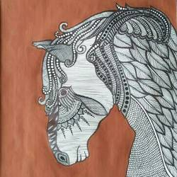 The Horse  size - 10x14In - 10x14