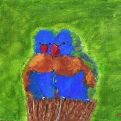 Love parrots size - 16x12In - 16x12