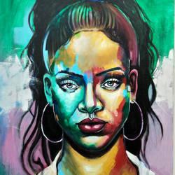Rihanna size - 24x30In - 24x30