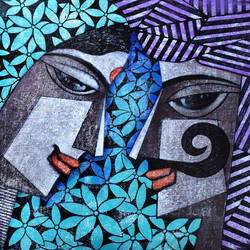 Rajesthani Couple_10 size - 17x18In - 17x18