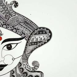 Maa Durga - Shakti size - 8x12In - 8x12
