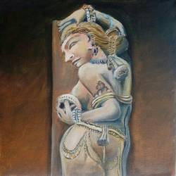 indian sculpture size - 12x12In - 12x12