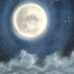 sky in the night size - 33x13In - 33x13