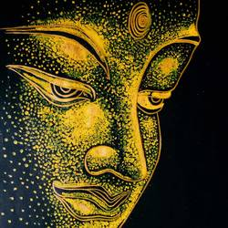Abstract Buddha painting size - 18x22In - 18x22