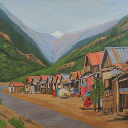 Market Country Side Sikkim size - 47x34In - 47x34