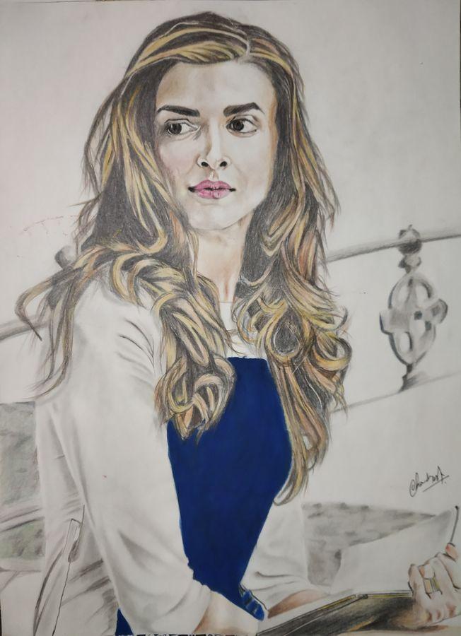 Buy Deepika Padukone Portrait Art Size 12x16 In created by ...