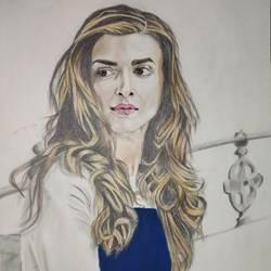 Deepika Padukone portrait art size - 12x16In - 12x16