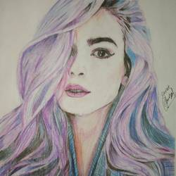colorful hairs size - 11x14In - 11x14