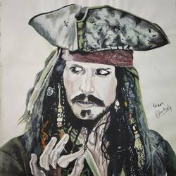 Captain Jack Sparrow  size - 11.5x12.5In - 11.5x12.5