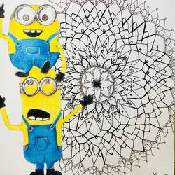 Minions cartoon size - 12x15In - 12x15